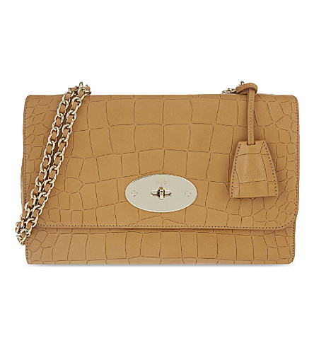 MULBERRY Lily medium embossed leather shoulder bag (Camel