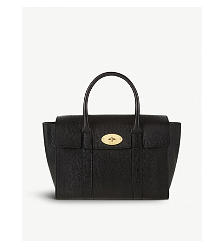 MULBERRY Bayswater small grained leather tote (Black