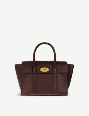 MULBERRY 'Bayswater' Grained Leather Satchel in Oxblood