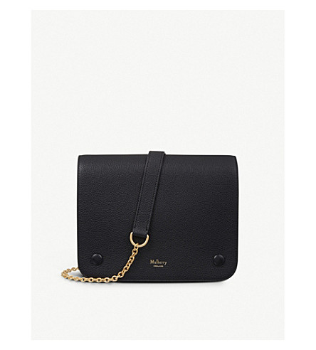 MULBERRY Clifton grained leather cross-body bag (Black