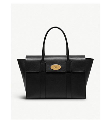 MULBERRY Bayswater grained leather tote (Black