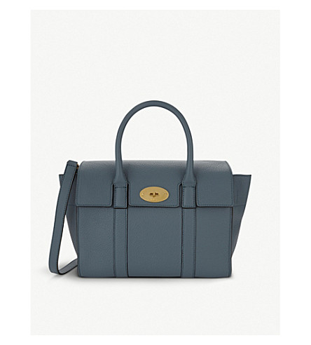 MULBERRY Bayswater small leather shoulder bag (Dark frozen