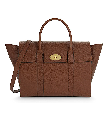 MULBERRY Bayswater grained leather tote (Oak