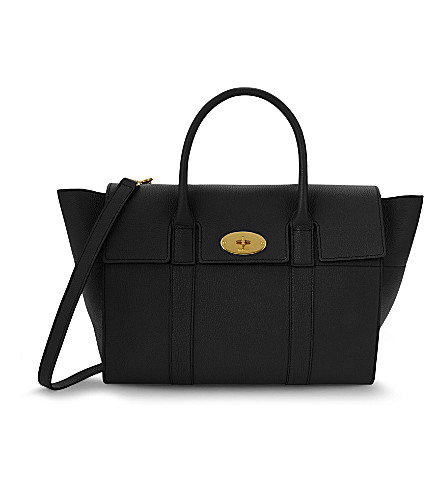 MULBERRY Bayswater small grained-leather tote (Black