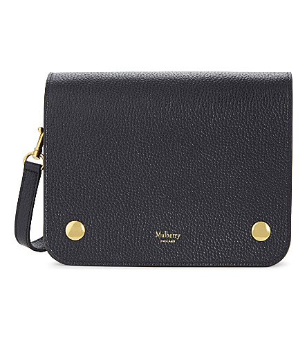 MULBERRY Clifton grained leather cross-body bag (Midnight