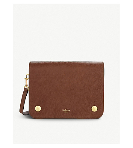 MULBERRY Clifton grained leather cross-body bag (Oak
