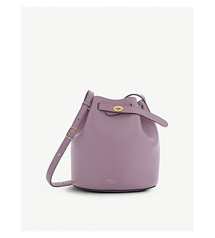 MULBERRY Abbey grained leather bucket bag (Lilac