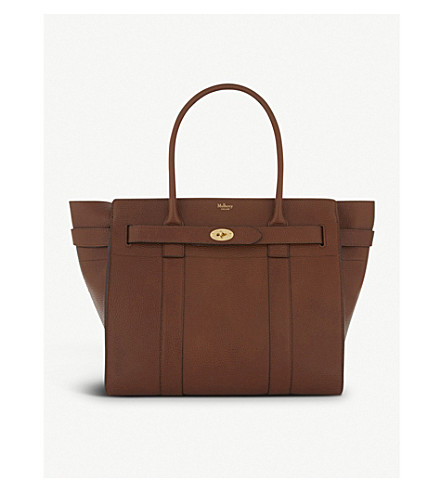 MULBERRY Bayswater grained-leather tote (Oak