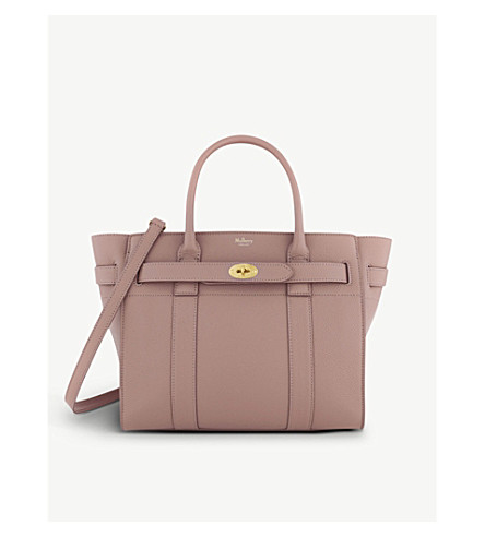 MULBERRY Bayswater grained leather tote bag (Blush