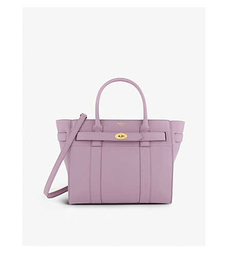MULBERRY Bayswater grained leather tote bag (Lilac