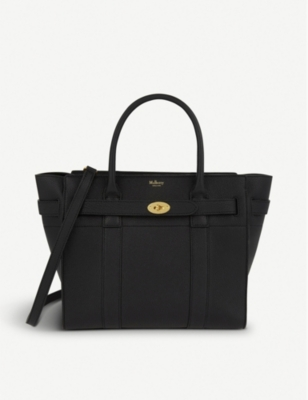 MULBERRY Bayswater Calfskin Leather Satchel - Black