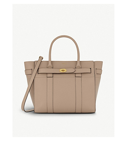 MULBERRY Bayswater small leather bag (Rosewater