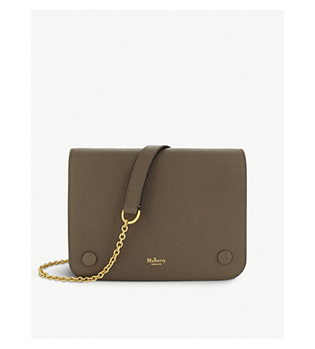 MULBERRY Clifton grained leather cross-body bag (Clay