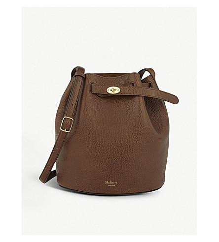 MULBERRY Abbey leather bucket bag (Oak