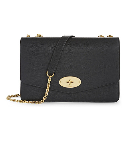 MULBERRY Darley large grained leather cross-body bag (Black
