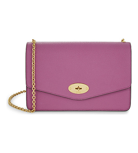 MULBERRY Darley leather shoulder bag (Orchid