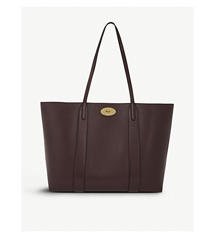 aa996118b3d9d MULBERRY Bayswater small grained-leather tote (Oxblood
