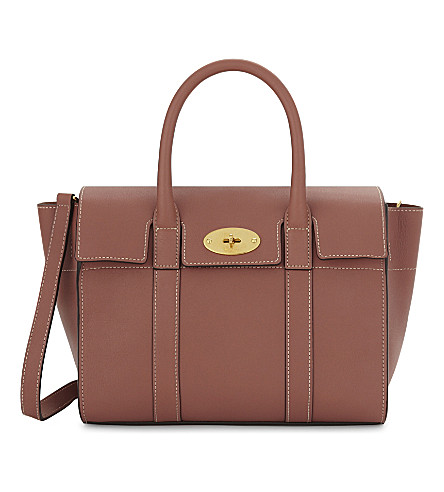 MULBERRY Bayswater small leather tote (Antique+pink