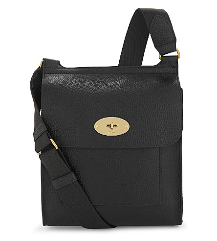 MULBERRY Antony grained leather cross-body bag (Black