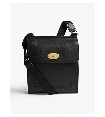 MULBERRY Antony leather shoulder bag (Black