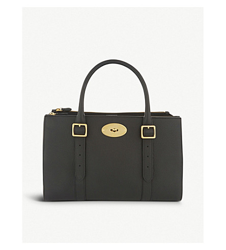 MULBERRY Bayswater medium grained leather tote (Black