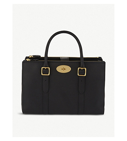 MULBERRY Bayswater leather tote (Black