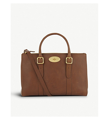 MULBERRY Bayswater small leather tote (Oak