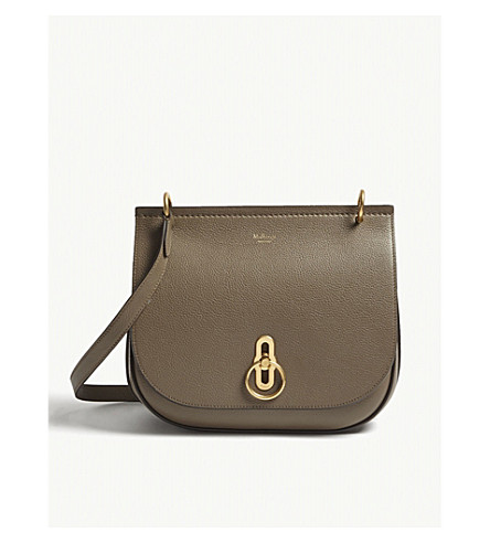 MULBERRY Amberley grained leather cross-body bag (Clay
