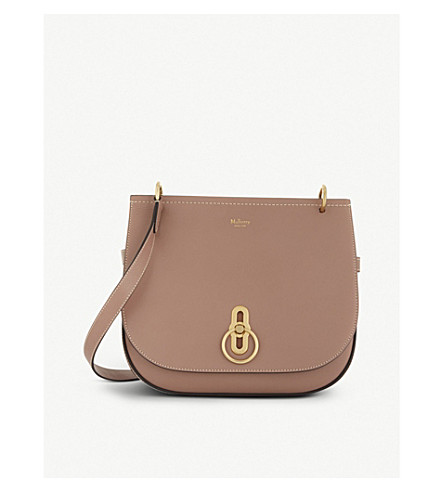 MULBERRY Amberley leather cross-body bag (Dark+blush