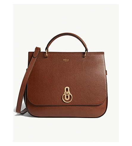 MULBERRY Amberley large leather cross-body bag (Oak
