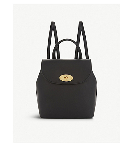 MULBERRY Mini Bayswater grained leather backpack (Black