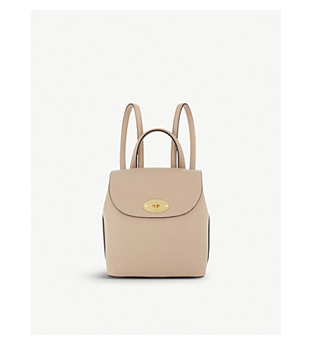MULBERRY Mini Bayswater leather backpack (Rosewater