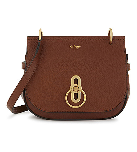 MULBERRY Small Amberley pebbled leather satchel (Oak