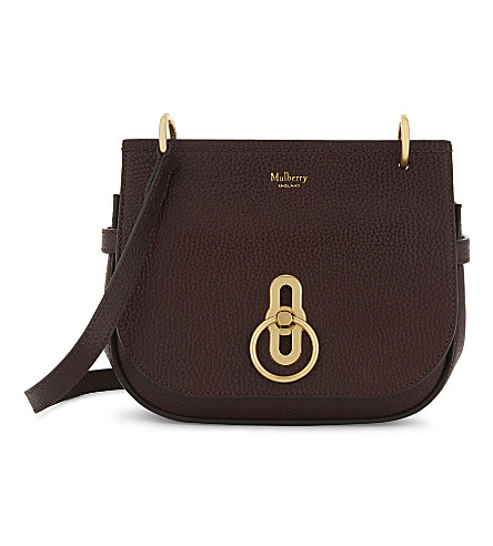 MULBERRY Amberley small grained leather cross-body bag (Oxblood