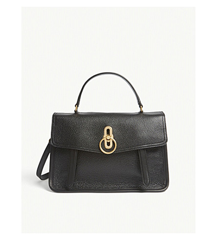 MULBERRY Gracy grained-leather satchel (Black