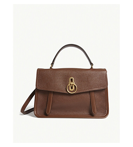 MULBERRY Gracy grained leather satchel (Tan