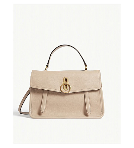MULBERRY Gracy grained leather satchel (Rosewater