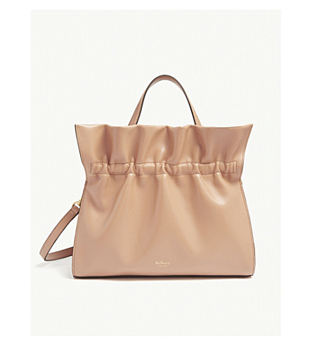 MULBERRY Lynton ruffled leather tote (Blush