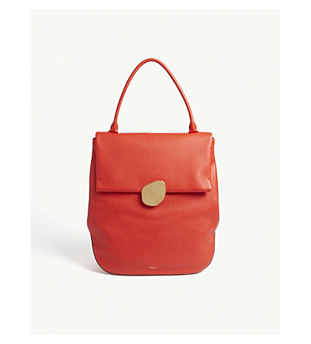 MULBERRY Kemble grained leather tote bag (Lipstick+red