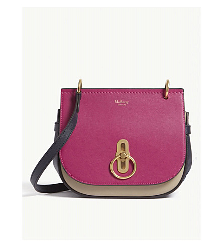Amberley colour-block leather satchel