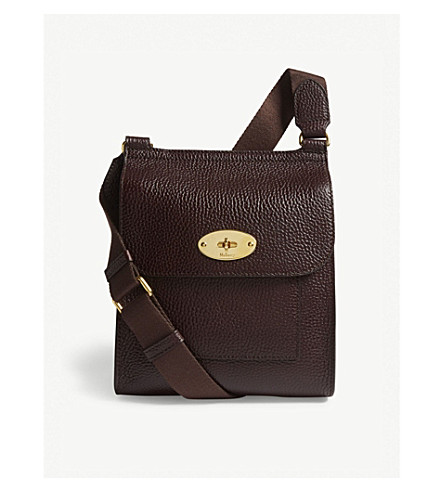 Antony leather messenger grained small MULBERRY MULBERRY Antony Oxblood ExZwqTFUaC