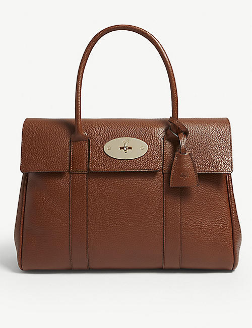 MULBERRY Bayswater grained-leather tote bag