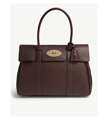 MULBERRY Bayswater grained-leather tote (Oxblood 4e1dfffd65573
