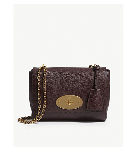 MULBERRY Lily grained-leather shoulder bag (Oxblood