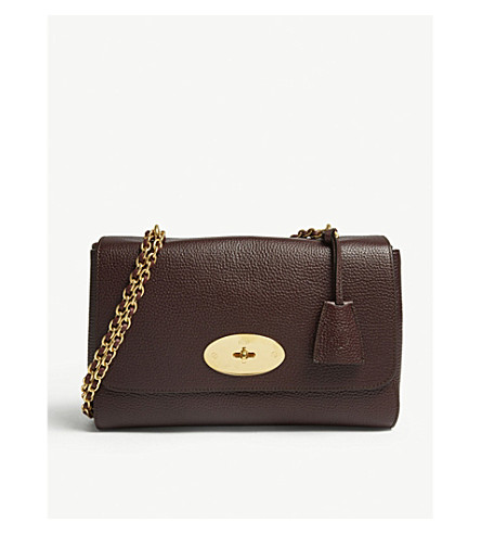 cd3499035f7 MULBERRY - Lily medium grained-leather shoulder bag   Selfridges.com