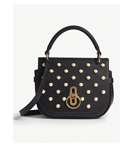 MULBERRY Amberley pearl-encrusted leather cross-body bag