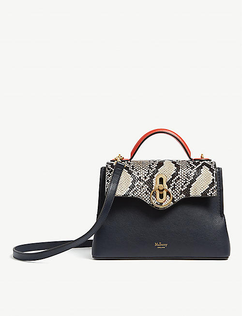 4a2d013ec280 MULBERRY Seaton mini faux snakeskin leather shoulder bag