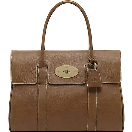 MULBERRY Bayswater natural leather handbag (Oak
