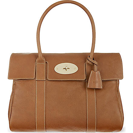 MULBERRY Bayswater tanned leather bag (Oak-soft gold
