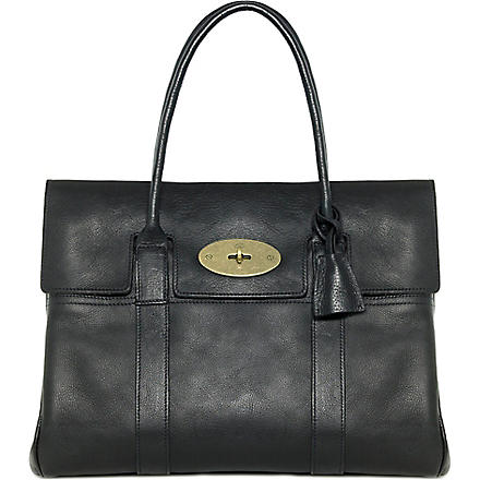 MULBERRY Bayswater natural leather handbag (Black